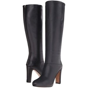 New Nine West Gofish Knee High Leather Heeled Boot